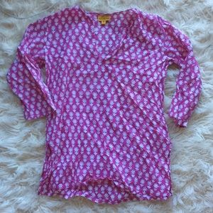 5/$25 swim cover up tunic pink girls size 4